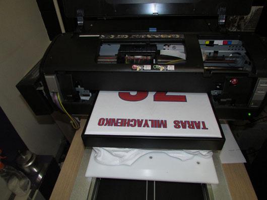 прямая печать на футболках любого изображения